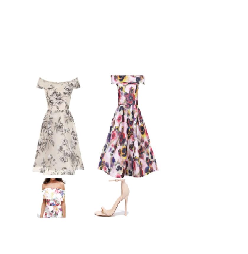 Bardot floral dress